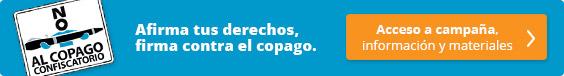 """Enlace a la campaña """"No al Copago Confiscatorio"""""""