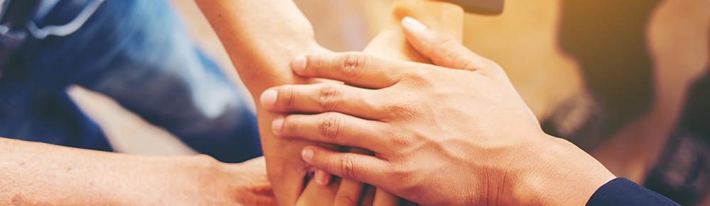 Foto de manos unidas