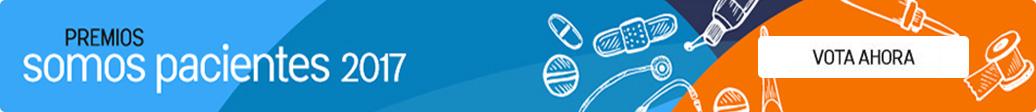 Banner que enlaza a la web de los premios Somos Pacientes
