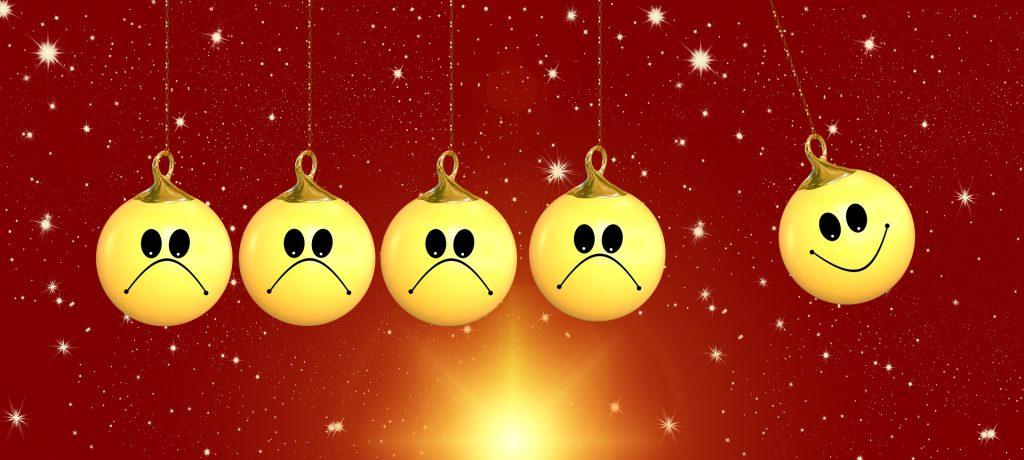 bolas de navidad tristes